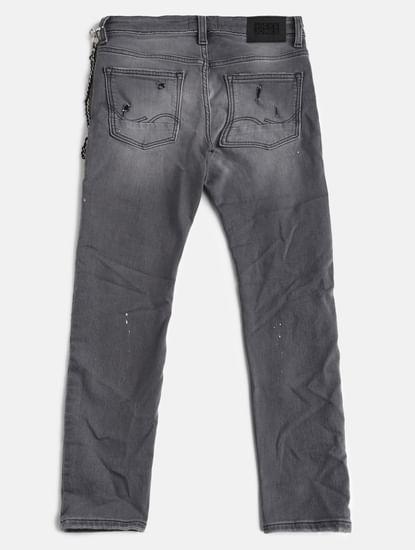 Boys Grey Low Rise Tim Slim Fit Jeans