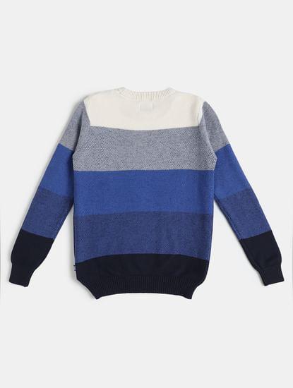 Boys Blue Striped Pullover