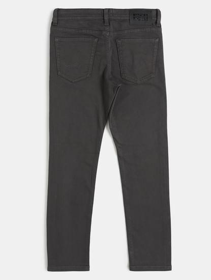 Boys Grey Low Rise Glenn Slim Fit Jeans
