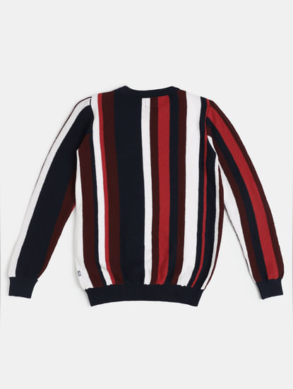 Boys Red Striped Pullover