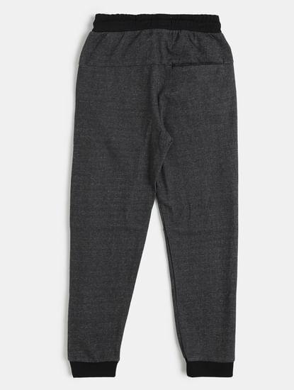 Boys Black Mid Rise Sweatpants