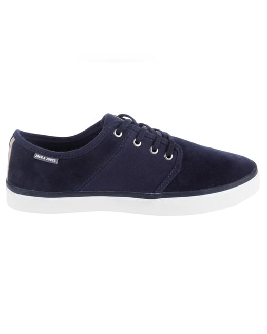 Blue Lace Up Sneakers