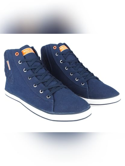 Blue Ankle High Sneakers
