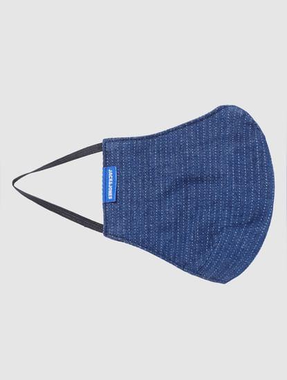 Blue Striped Lightweight Denim 3PLY Mask