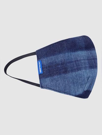 Blue Washed Lightweight Denim 3PLY Mask