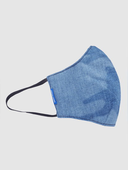 Blue Lightweight Denim 3PLY Mask