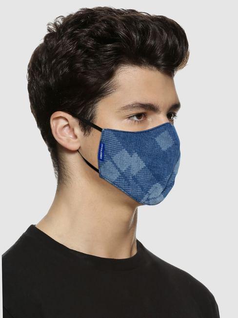 Light Blue Lightweight Denim 3PLY Mask