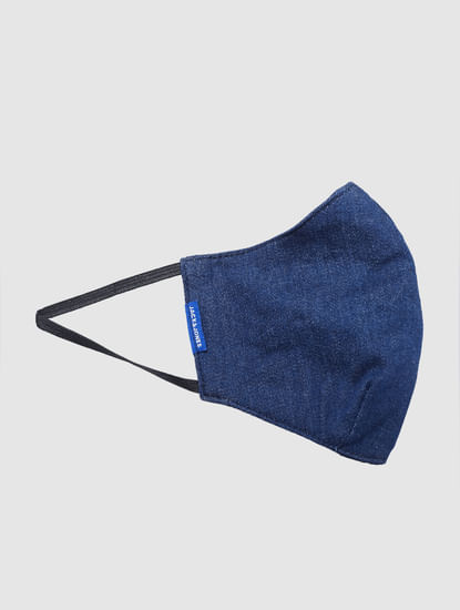 Blue Lightweight Denim 3PLY Mask