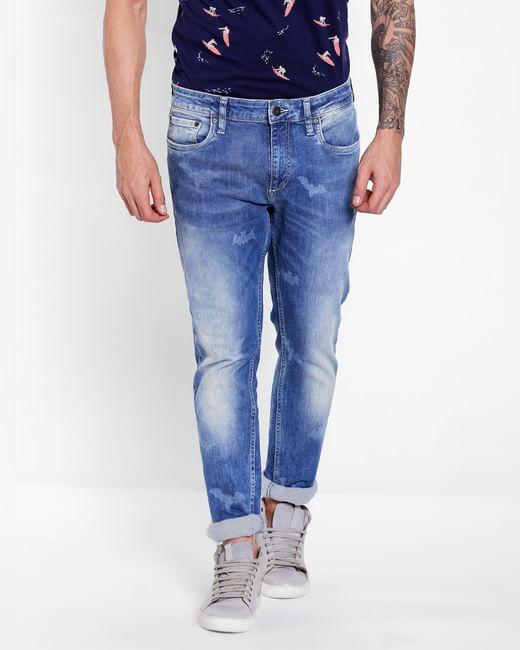 Light Blue Mid Rise Ben Skinny Jeans