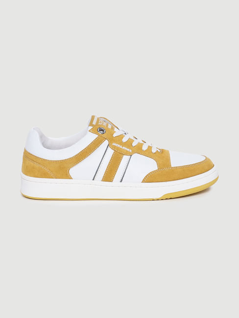 Yellow Colourblocked Sneakers