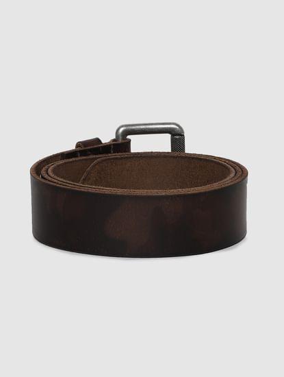 Brown Printed Leather Belt