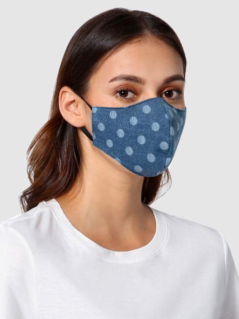 Blue Polka Dot 3PLY Anti-Viral Mask