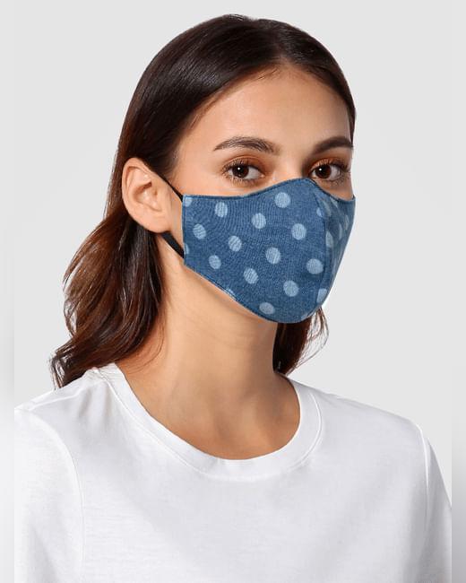 Blue Polka Dot 3PLY Anti-Viral Mask