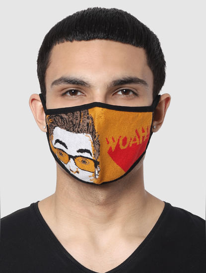 Pack of 3 Graphic Print Seamless 2 PLY Mask