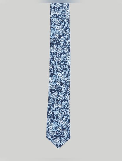 Blue Floral Tie