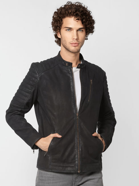 Black 'Limited-Edition' Pure Leather Jacket
