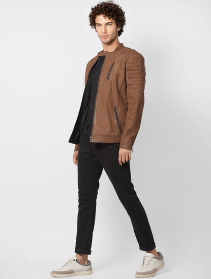 Brown 'Limited-Edition' Pure Leather Jacket