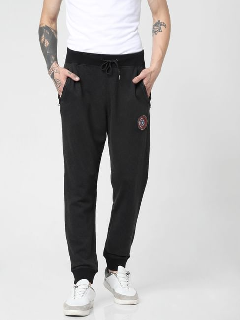 X Power Of Icon Black Sheild Print Sweatpants