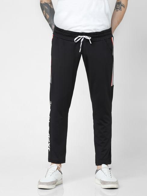 Black Drawstring Tape Detail Sweatpants