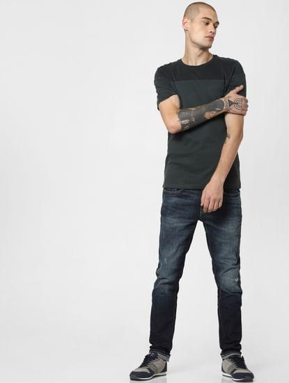 Blue Low Rise Faded Glenn Slim Fit Jeans