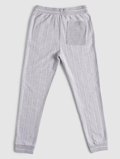 BOYS Grey Striped Sweatpants