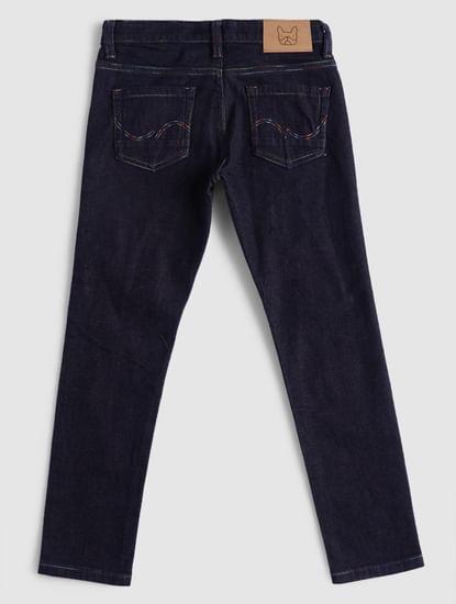 BOYS Blue Low Rise Clark Straight Fit Jeans