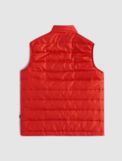 BOYS Red Sleeveless Puffer Winter Jacket