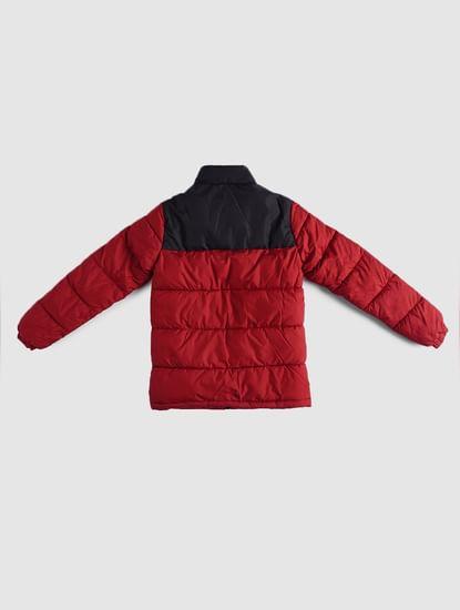 BOYS Red Puffer Winter Jacket