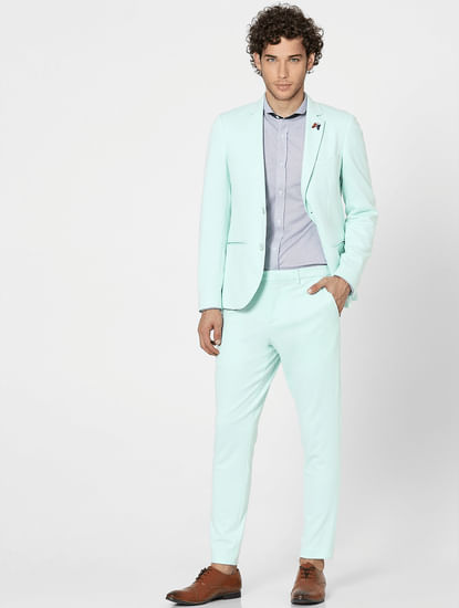 Green Tailored Suit Trousers