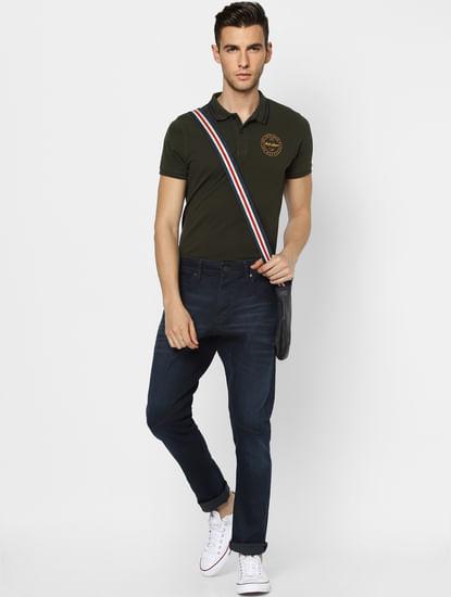 Blue Low Rise Simon Anti Fit Jeans