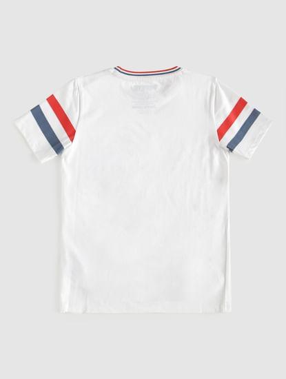 Junior X Popeye White Printed Crew Neck T-Shirt