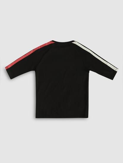 Junior X Popeye Black Printed Crew Neck T-Shirt