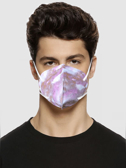 Pack of 3 Abstract Print N95 Mask with PM 2.5 Filter