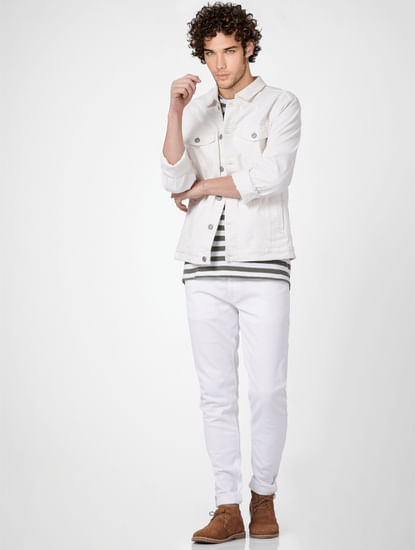 White Low Rise Ben Skinny Jeans