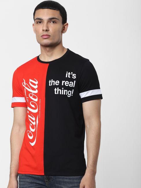 JACK&JONES | COCA COLA Red Slogan Print Crew Neck T-shirt