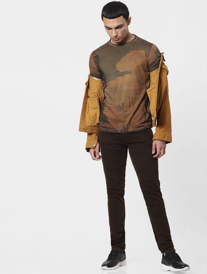 Brown Low Rise Ben Skinny Jeans