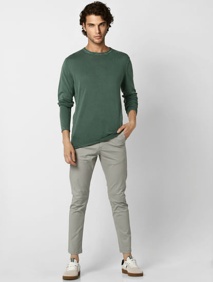 Green Washed Pullover