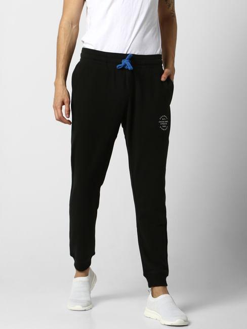 Black Low Rise Logo Print Sweatpants