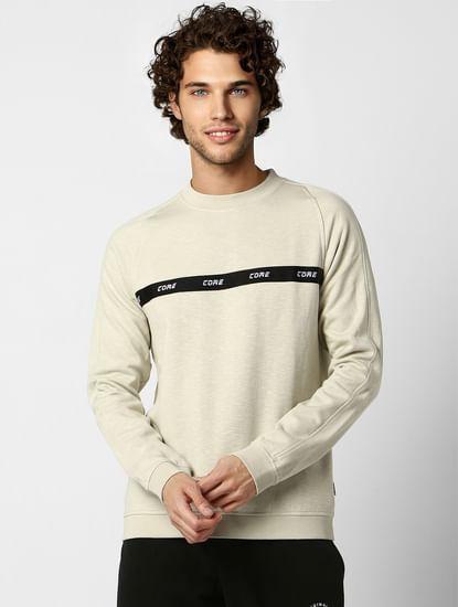 Off-white Text Print Sweatshirt