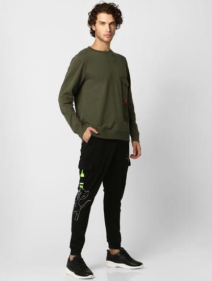 Green Pocket Detail Sweatshirt