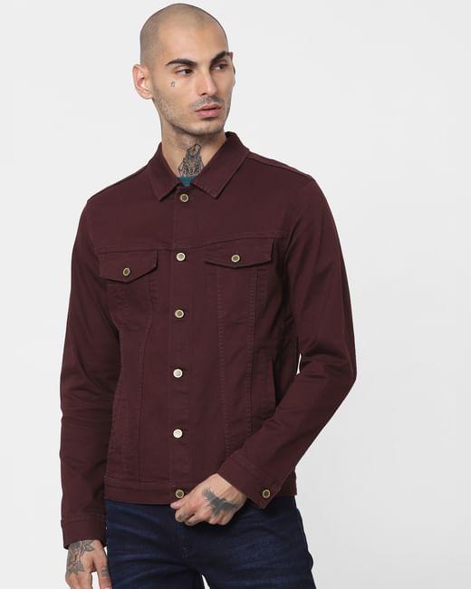 Brown Solid Jacket