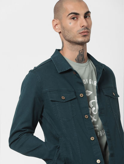 Green Solid Jacket