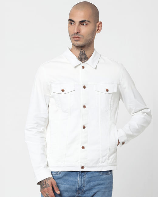 White Solid Jacket