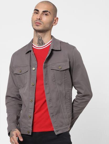 Grey Solid Jacket