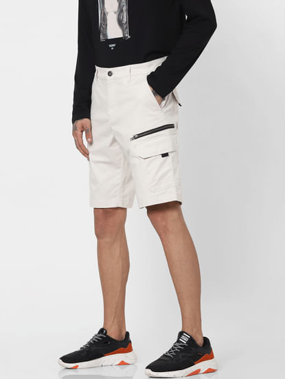Off White Low Rise Shorts