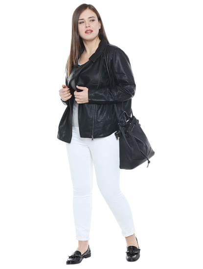 Black PU Jacket