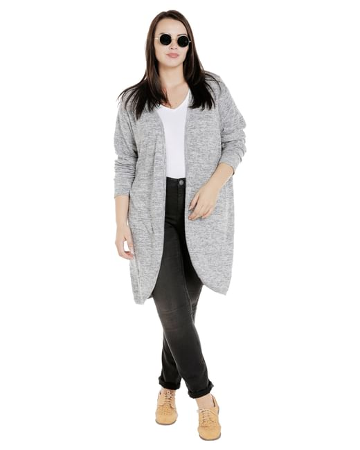 Light Grey Long Shrug