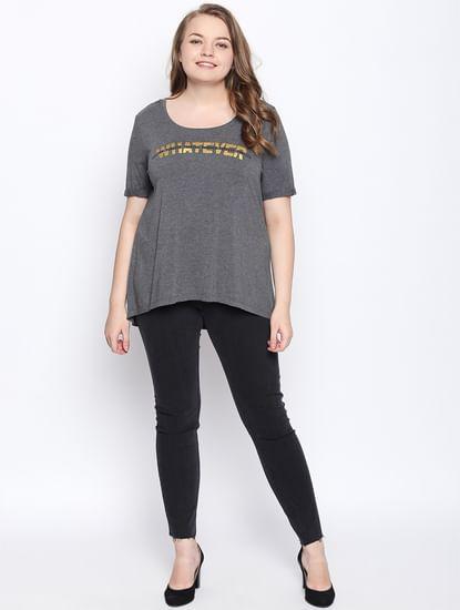 Dark Grey Hi-Low T-shirt