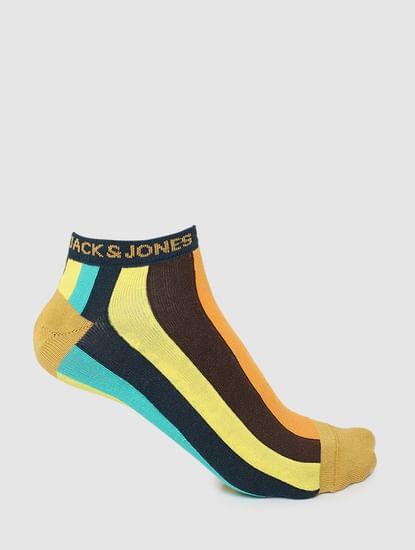 Multi-coloured Striped Ankle Socks