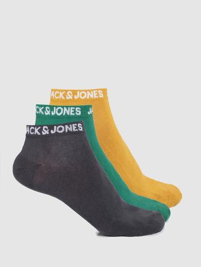 Pack of 3 Ankle Socks - Multi-coloured